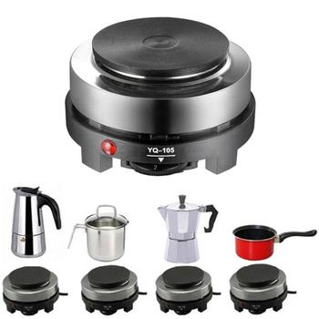 Mini estufa eléctrica de 500 W, placa de cocina caliente, leche, agua, café, calefacción, aparato cocina multifuncional