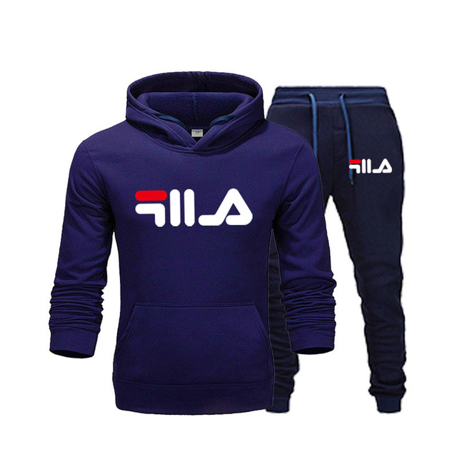 New Brand Clothing Men's Pullovers Sweater Cotton Men Tracksuits Hoodie Two Pieces + Pants Sports Shirts Fall Winter Track suit 4