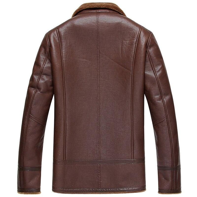 Genuine Leather Jacket Natural Wool Fur Liner Coat Winter Jacket Sheepskin Coat Motorcycle Jacket JLK18SJF1850 MY1379
