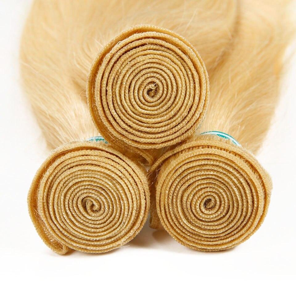 H59be45d4fffb4bbbb06fdaa0990afa23B Ali Grace Hair Blonde 613 Bundles With Frontal Brazilian Straight Bundles with Closure 13*4 Remy Blonde Bundles With Frontal