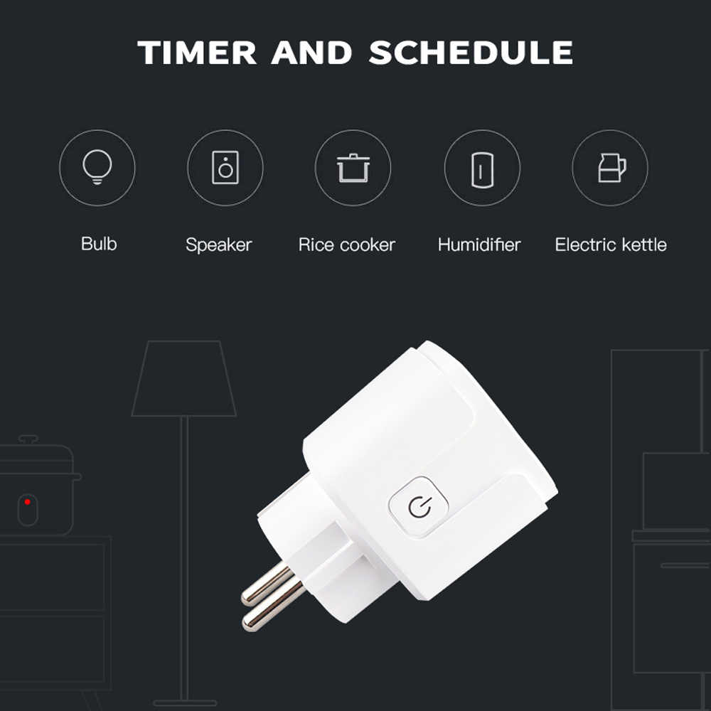 WiFi Smart Plug Socket Werkt 16A EU Socket Wifi Reomote Controle Voice Control Werkt met Apple HomeKit Google Home Alexa