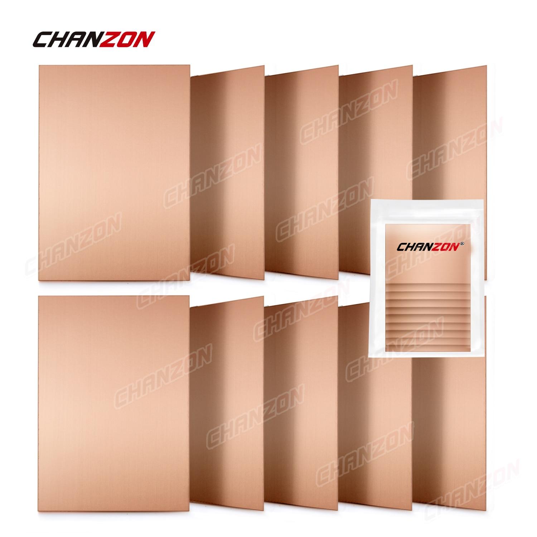 10 pces única face cobre folheado laminado pcb 7x10cm cobre chapeado universal circuito protótipo placa fr4 para gravar kit pcbs diy
