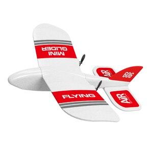 KF606 2,4 ГГц 2 канала ручной работы, встроенный гироскоп, модель самолета DIY, EPP, Летающий подарок, мини-игрушка, инерционная пена, RC Планер для де...