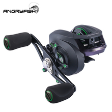 Angryfish High Speed Baitcasting Reel 6.3:1 Long Casting Fishing  5KG Max Drag Power Carp Tackle DropShipping