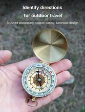 Odkryty wodoodporny kompas wysokiej jakości światło nocne pyłoszczelny kompas na Camping piesze wycieczki alpinizm TXTB1 tanie tanio CN (pochodzenie) Typu handheld Copper Wskaźnik Wskazując przewodnik 5 5 * 5 5 * 2 5 cm Compasses HIKE 50 g