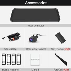 "Image 5 - Junsun H16 New Tech 2.5D FHD 1296P Stream Media RearView Mirror DVR Dual lens Dash Camera 10"" IPS Night Vision Parking Monitor"