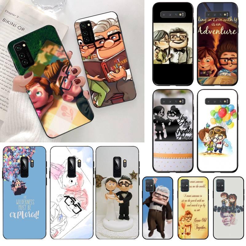 CUTEWANAN Romantic Up Carl And Ellie Couple Phone Case for Samsung S20 plus Ultra S6 S7 edge S8 S9 plus S10 5G lite 2020