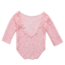 newborn Vintage Newborn Baby Girl Lace Romper Bodysuit Photography Props Costume Clothes FOR bebes Baby Bodysuit newborn photography props baby lace romper with ribbon princess costumes set infant girls clothes yjs dropship