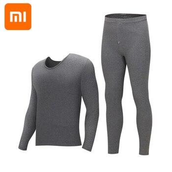 Xiaomi Thermal underwear men's round neck cotton pants sweater bottoming thermal underwear set winter