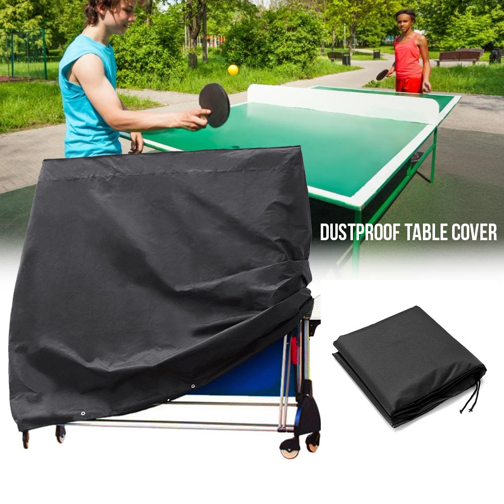 210D Waterproof Table Tennis Table Protective Cover Foldable Dustproof Ping Pong Dustproof Table Cover For Indoor Outdoor