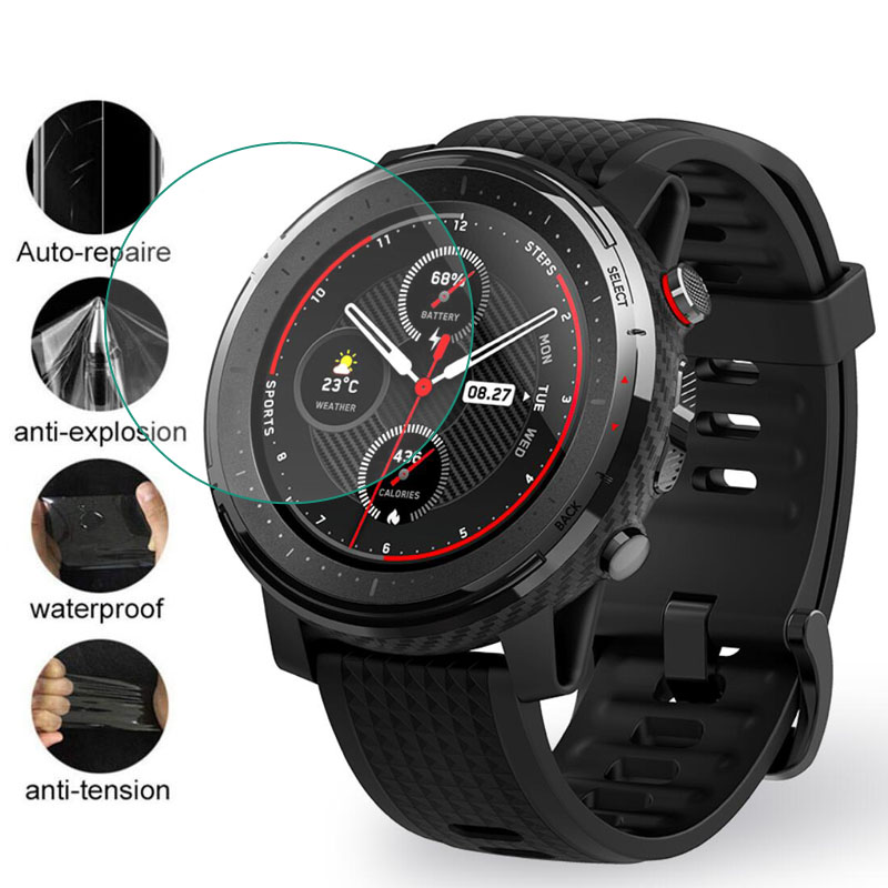 Soft Clear Protective Film Guard For Xiaomi Huami Amazfit Stratos ...