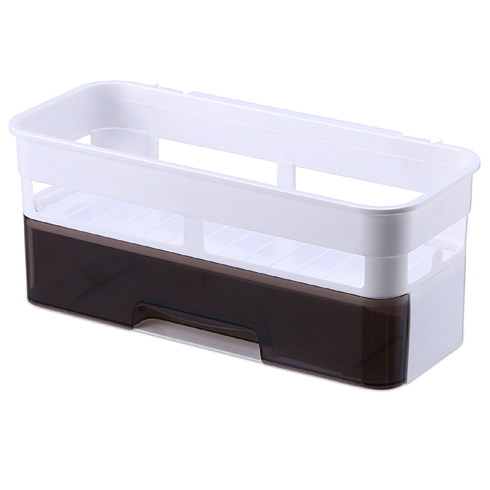 Bathroom Shelf Punch-Free Plastic Toilet Bathroom Vanity Wall Hanging Bathroom Storage Rack Basket No Trace Stickers