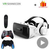 Casco Shinecon G06EB, gafas 3D VR, gafas de realidad Virtual, auriculares Len para iPhone, Android, Smartphone, gafas de teléfono inteligente, juego 3 D
