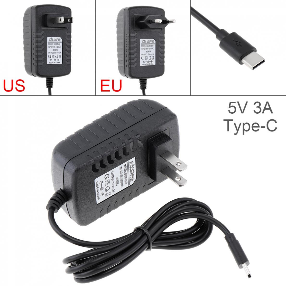 5V 3A Power Adapter Charger Converter Mobile Phone Charger Fit For Raspberry Pi4 TypeC USB Power Charging