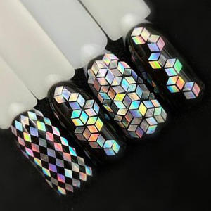 Nail Glitter Polish Charm Sequins Flakes-Decorations Manicure Dust-Mixed Rhombus-Shape