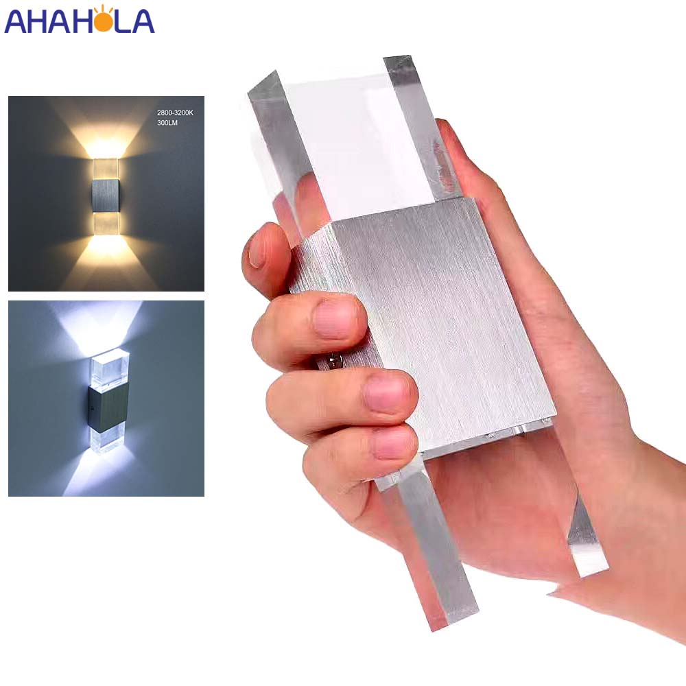 AC 110V 220V Aluminum Acrylic Modern Led Wall Light Indoor Wall Sconces Decorative Wall Lamps For Home Bed Room Living Room