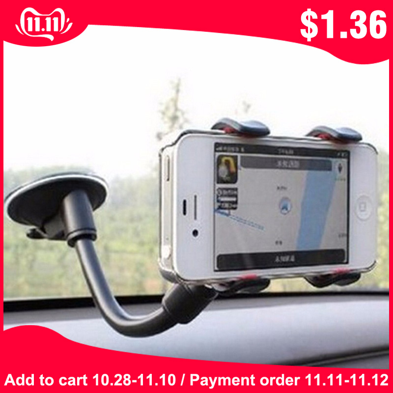 Universal Double headed Car Windshield Suction Cup Type Mobile Phone Holder Adjustable Angle For Car Navigation Phone Bracket-in Phone Holders & Stands from Cellphones & Telecommunications