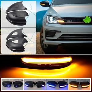 Image 2 - Für Volkswagen VW GOLF 6 VI MK6 GTI R linie R20 Touran LED Dynamische Blau Blinker Blinker Seite Hinten ansicht Spiegel Anzeige Licht
