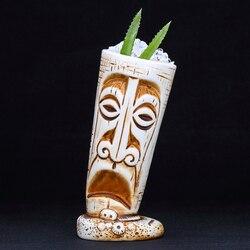 530ml Hawaii Ceramic Tiki Mug Creative Porcelain Beer Wine Mug Cup Bar Tool