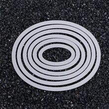Овальные металлические штампы трафареты «сделай сам» альбом