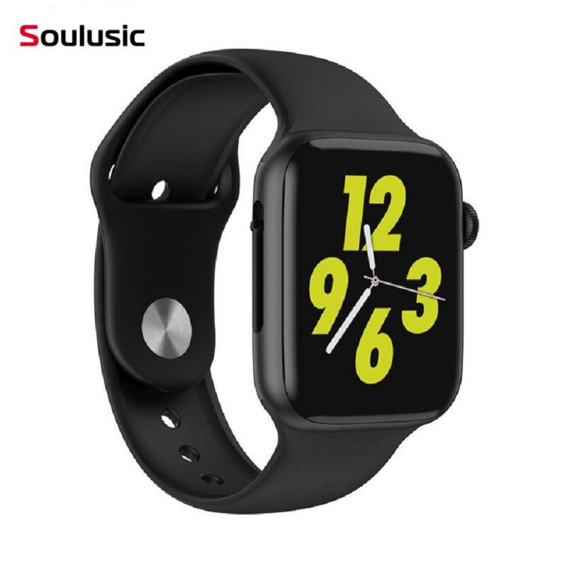 Transporte da gota Soulusic W34 Chamada Bluetooth Smartwatch Relógio Inteligente Monitor de Freqüência Cardíaca ECG iwo 8 lite Homens Mulheres para o Android iPhone iwo PK 8 10