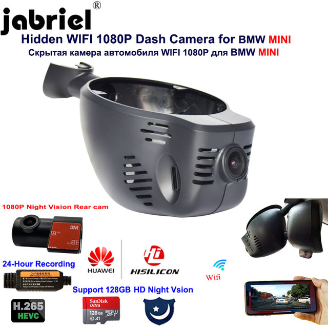 1080P 24H Dvr Xe Ô Tô Dash Camera Cho Xe BMW MINI Cooper CABRIO CLUBMAN Hương PACEMAN R56 R57 R58 R59 r60 R61 F54 F55 F56 F57 F60