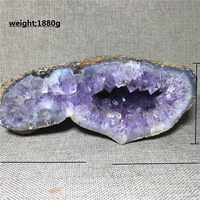 Образец кристалла кварца из натурального агата, украшение для дома, камень и кристалл, исцеляющий Аметист рейки