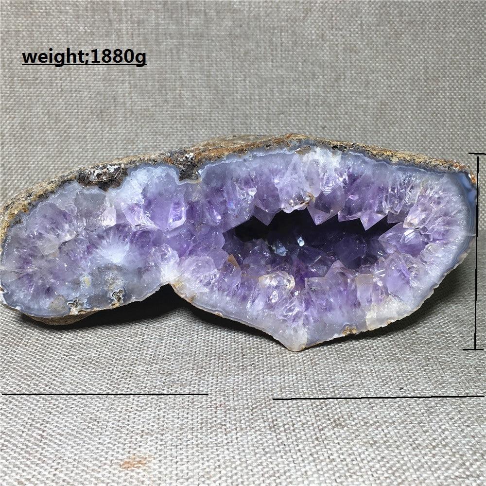 Agate naturelle géode quartz cristal spécimen ameublement décoration pierre et cristal Reiki guérison améthyste