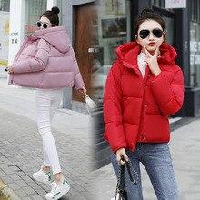 Одежда с хлопковой подкладкой, женская короткая, стиль, зимний Корейский стиль, свободный пуховик с капюшоном, одежда с хлопковой подкладкой, короткая