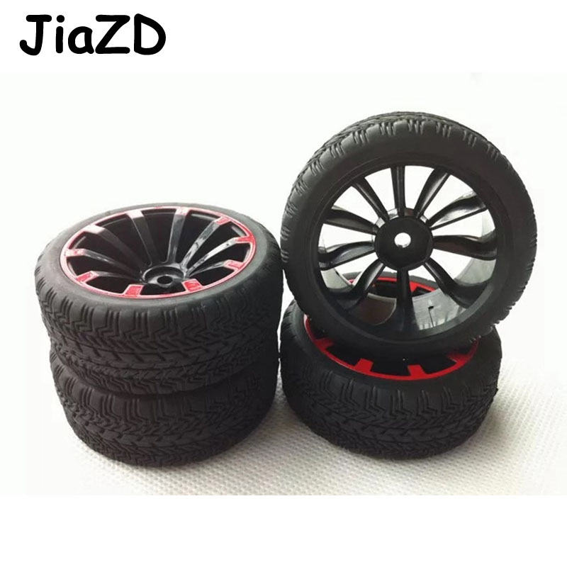 High Quality 70*28MM 4PCS Plastic Wheel Rim & Rally Tire for 1/10 <font><b>RC</b></font> Car Tamiya HSP <font><b>HPI</b></font> 4WD <font><b>RC</b></font> On Road Car Accessories W5 image