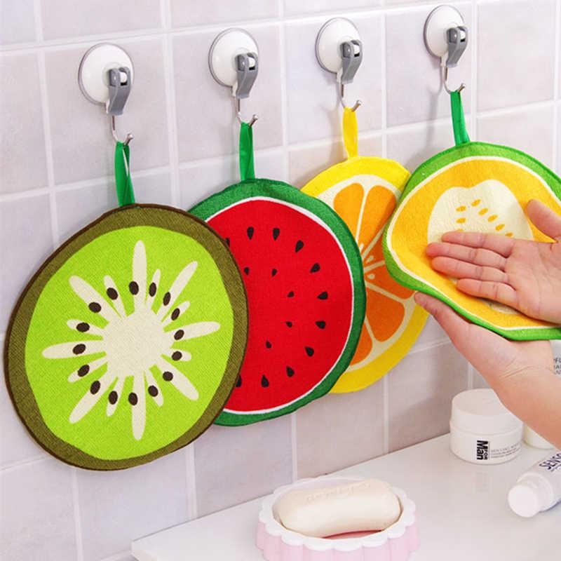 Frutas criativas impressão pendurado toalha de cozinha microfibra limpeza rápida-seca pano pano pano pano pano pano de limpeza absorvente