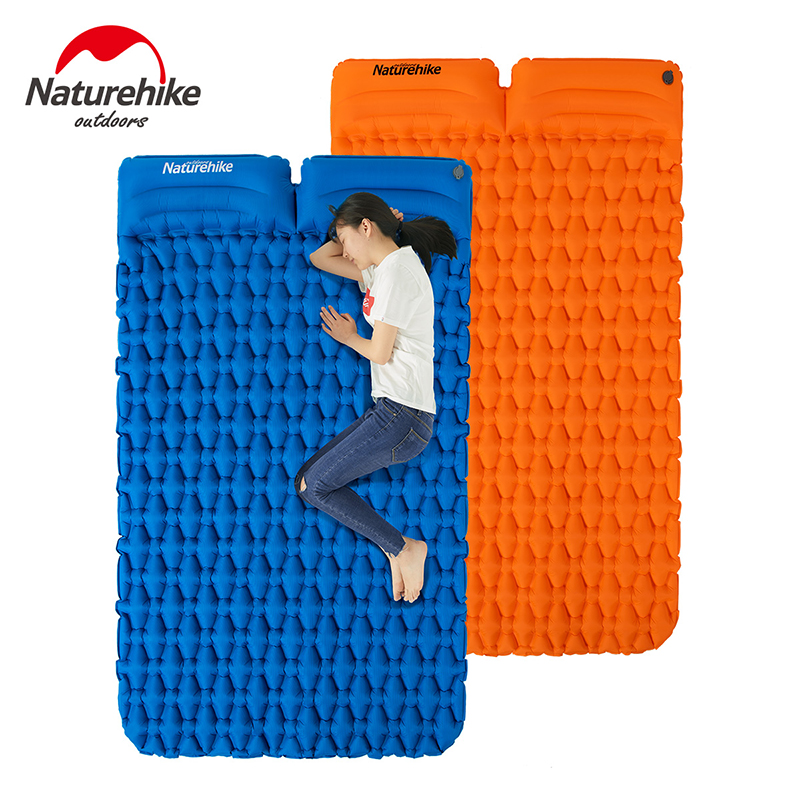 Naturehike Lightweight Moisture-proof Air Mattress Nylon Sleeping Pad Inflatable Mattress Camping Mat For 2 Person Waterproof