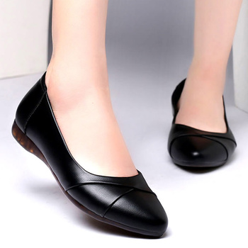 Pointed Leather Flats Women Spring Loafers Woman Flats 2020 Fashion Oxford Shoes For Women Balck Shoes Female Falts fashion brand spring autumn women platform shoes genuine leather casual shoes woman flats lace up oxford shoes for women shoes