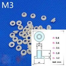 100 шт M3 нейлоновая пластиковая прокладка транзистор шайбы t-типа прокладки изоляционные частицы шаг лист 5,8 мм/5,9 мм OD