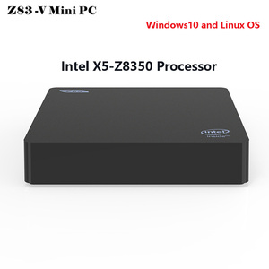 Z83-V Windows10 Mini PC Intel Atom X5-Z8350 Quad Core 4GB 64GB Smart TV Box 2.4G 5.8G WiFi BT4.0 1000Mbps 4K Linux OS MIni PC(China)
