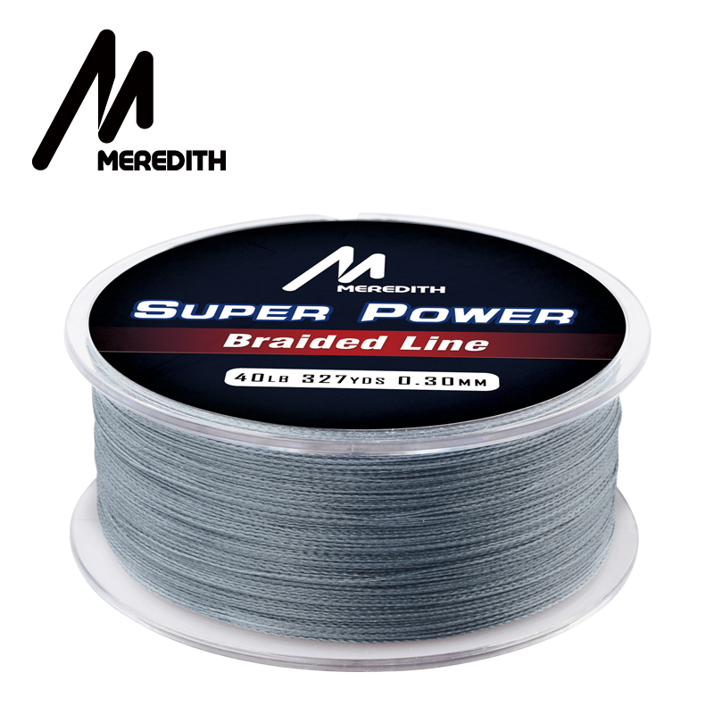 MEREDITH 300M 327Yards PE Braided Wire Fishing Line 4 Strands 0.09-0.30mm 10-40LB Strong PE Fishing Line(China)