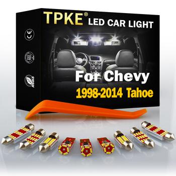 Dla 1998-2014 Chevy Tahoe biały akcesoria samochodowe błąd Canbus darmowa oświetlenie wnętrza LED do czytania zestaw oświetleniowy mapa Dome lampa oświetlająca tablice rejestracyjną tanie i dobre opinie TPKE CN (pochodzenie) Lampki do czytania 320LM Festoon-39mm 12 v 36mm CHEVROLET 19 99 2000 2001 2002 2003 2004 2005 2006