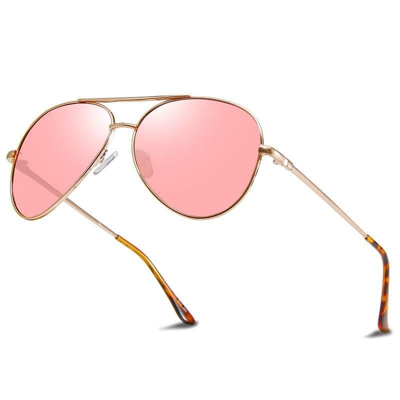 Retro Pilot Polarized Sunglasses Men Brand Driving Aviation Sun Glasses Women Vintage Pink Sunglass Shades for Women UV400 Gafas