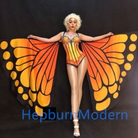 Butterfly wings Sexy Costume Cape show Costume Big fashion show Nightclub Bar Gogo party