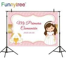 Funnytree Achtergrond Fotografie Studio Eerste Communie Decoratie Aanpassen Meisje Chervon Foto Achtergrond Photozone Photophone