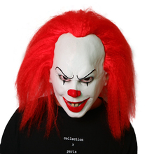 цены Halloween Stephen King's It Mask Pennywise Horror Clown Joker Mask Clown Mask Halloween Cosplay Costume Props