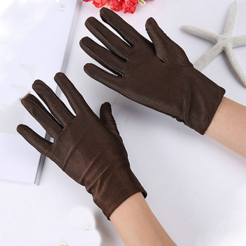 1pc Unisex Summer Ice Silk High Elastic Spandex Car Gloves Show Etiquette Sunscreen Cotton Thin Work Colorful Driver - discount item  35% OFF Gloves & Mittens