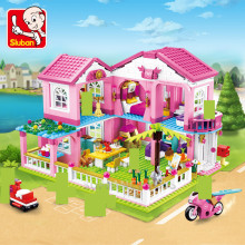 Big Garden Villa Juguetes City House Building Blocks Yacht Ship Castle LegoINGs Minecrafteds Friends Bricks Toys Christmas Gifts 34052 house building bricks legocean city streetview villa garden building blocks sets doll model house gifts kids children toys