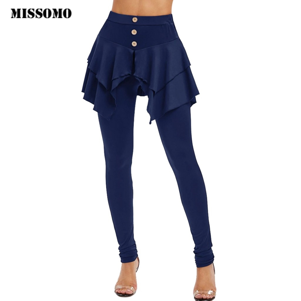 MISSOMO Winter Pants Women Pants Irregular Ladies Button One Piece High Waist Pants Plus Size Women S-3XL Calca Feminina 10