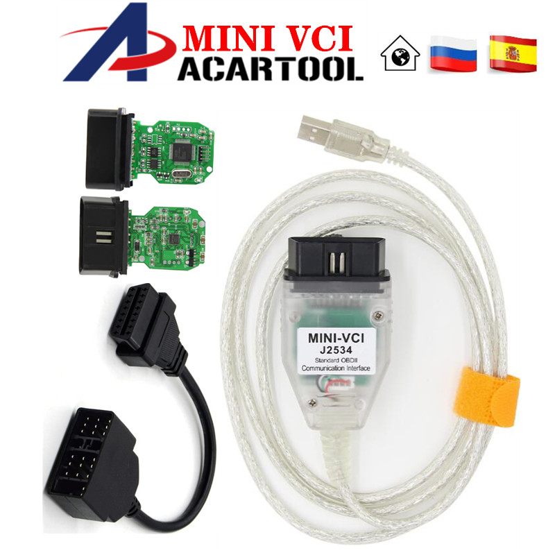 Latest V13.00.022 MINI VCI Interface Fit For TOYOTA TIS Techstream J2534 OBD2 OBD Diagnostic Connect Cable 22PIN to 16PIN-in Car Diagnostic Cables & Connectors from Automobiles & Motorcycles