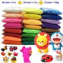 12/24/36 cor luz argila com 3 ferramentas de ar luz seca argila colorida criativo diy artesanal educacional jogar massa brinquedo presente