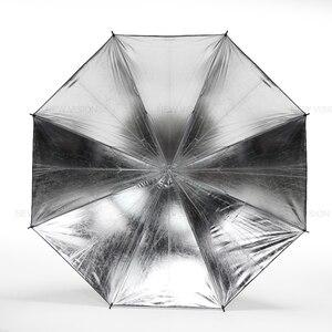 "Image 4 - Godox 40 ""102 سنتيمتر عاكس مظلة استوديو الصور ضوء فلاش محبب أسود فضي مظلة"