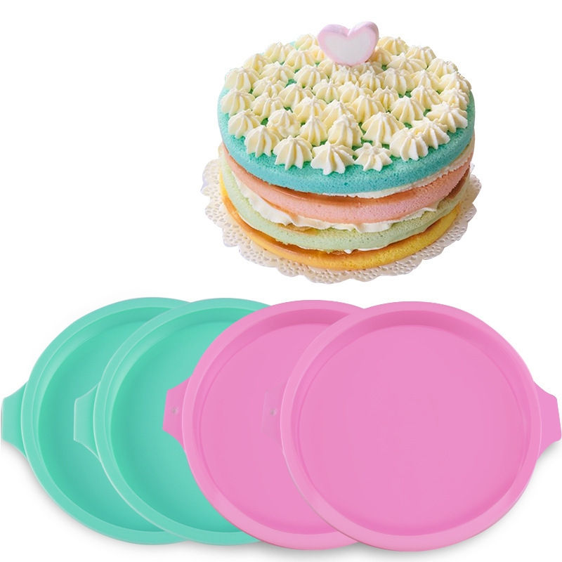 Cheesecakes Quiches Silicone Round Shape Mousse Mold For Mirror Cake Cookies