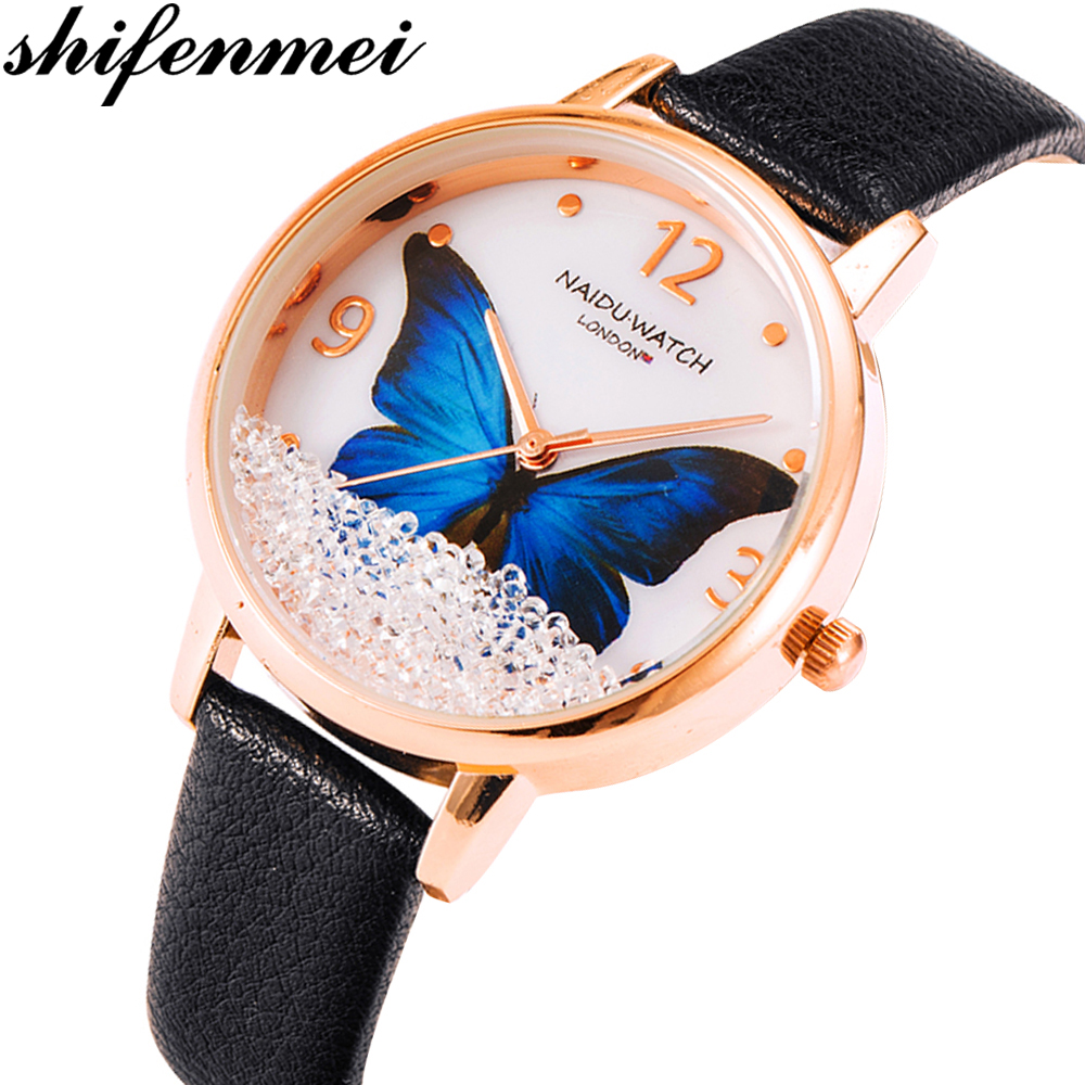 Shifenmei Women Watches Top Brand Luxury Fashion Ladies Watch Waterproof Quartz Wristwatch Leather Strap Clock Relogio Feminino