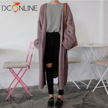 Autumn Woman Cardigan Sweater Korea Loose Lethargic O-Neck Solid Cardigans Long sweater clothes woman winter outfits